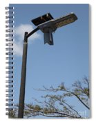 Wind And Solar Powered Light Spiral Notebook