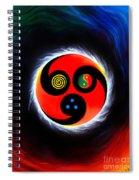 Wind And Stream. Energy. Monada Spiral Notebook