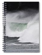 Wind And Waves In Oregon Spiral Notebook