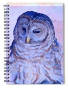 Wind Blown Owl  Spiral Notebook
