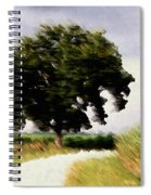 Wind Motif Old Dam Road Spiral Notebook