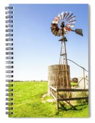Wind Powered Farming Station Spiral Notebook