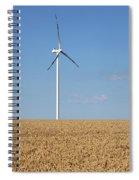 Wind Turbines On Wheat Field Summer Season Spiral Notebook