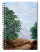 Windblown Clouds Spiral Notebook