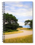 Winding Road Into The Unknown Spiral Notebook