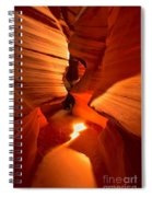 Winding Through Antelope Canyon Spiral Notebook