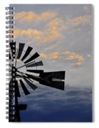 Windmill And Cloud Bank At Sunset Spiral Notebook