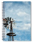 Windmill And Clouds Spiral Notebook