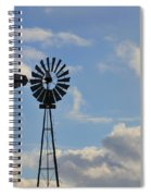 Windmill And Sky Spiral Notebook