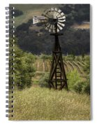 Windmill And Vineyards Spiral Notebook