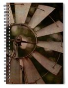 Windmill At Dusk Spiral Notebook