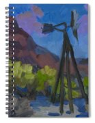 Windmill At Keys Ranch Joshua Tree Spiral Notebook