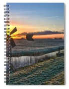 Windmill At Sunrise Spiral Notebook