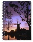 Windmill At Sunset Spiral Notebook