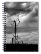 Windmill Foreground A Dramatic Sky Baw Spiral Notebook