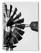Windmill In Black And White Spiral Notebook