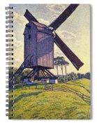 Windmill In Flanders Spiral Notebook