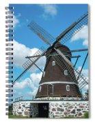 Windmill In Fleninge,sweden Spiral Notebook