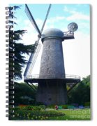 Windmill In Golden Gate Park Spiral Notebook