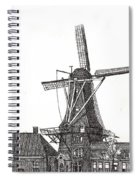 Windmill In Meppel, Holland 2016 Spiral Notebook