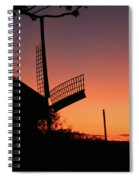 Windmill In The Afterglow. Spiral Notebook