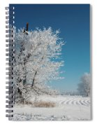 Windmill In The Frost Spiral Notebook