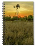 Windmill On The Prairie Spiral Notebook