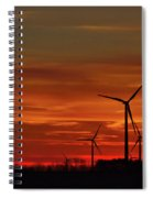Windmill Sunrise Spiral Notebook