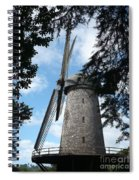 Windmill Through The Trees Spiral Notebook