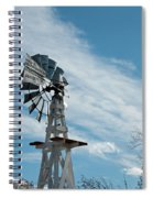Windmill With White Wood Base Spiral Notebook