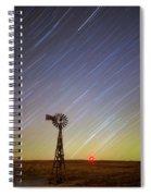 Windmills And Stars Spiral Notebook