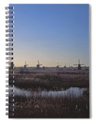 Windmills At Kinderdijk In Wintersun Spiral Notebook