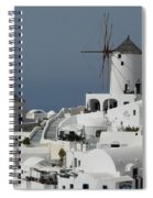 Windmills Of Santorini Spiral Notebook