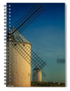 Windmills Under Blue Sky Spiral Notebook