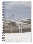 Windmils In Snow Spiral Notebook