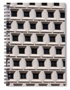 Window Abstract Spiral Notebook