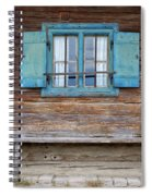 Window And Bench Spiral Notebook