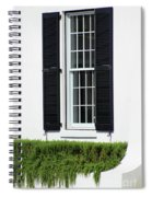 Window And Black Shutters Spiral Notebook
