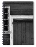 Window And Door Bw Spiral Notebook