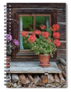 Window And Geraniums Spiral Notebook