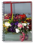 Window Flowers Spiral Notebook