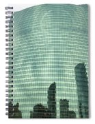 Window Reflections In The Windy City Spiral Notebook