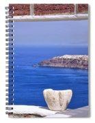 Window View To The Mediterranean Spiral Notebook