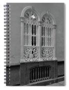 Windows At Cadiz Bw Spiral Notebook