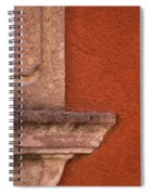 Windowsill And Orange Wall San Miguel De Allende Spiral Notebook