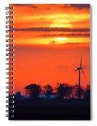 Windpower Sunrise Spiral Notebook