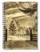 Windstone Farm - Sepia Spiral Notebook