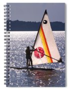 Windsurfing Lake Champlain Spiral Notebook