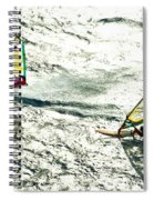 Windsurfing Silver Waters Spiral Notebook