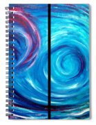 Windswept Blue Wave And Whirlpool 2 Spiral Notebook